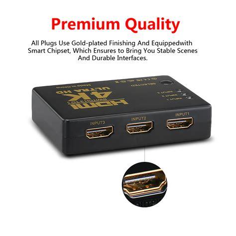 Hdmi Switch 3 Port Hd 1080p With Remote Black Switche 1 4k 1080p 3 5 port hdmi hdtv auto switch switcher selector