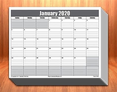 calendar  lines photo calendar template