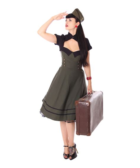 vintage swing kleid sugarshock harbor 40er retro swing
