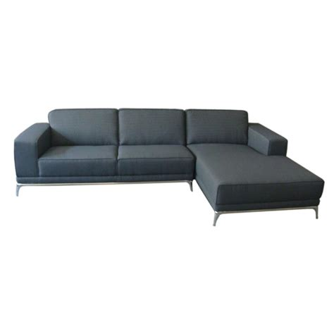 cappa sofa sectional w right chaise in gray fabric w