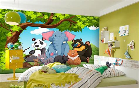 kids bedroom wallpapers hd wallpapers pics custom 3d photo mural wallpaper kids room elephant panda