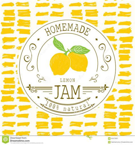 free product label design templates jam label design template for lemon dessert product with