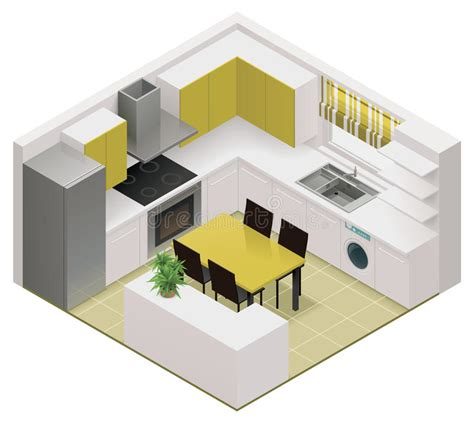 Kitchen Planner 3d Free Download vector isometric kitchen icon stock vector illustration