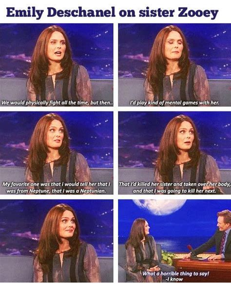 emily deschanel  sister zooey funny pictures quotes memes funny images funny jokes
