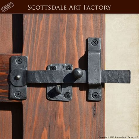gate latch hand forged wrought iron glh custom