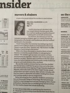 star tribune business section melissa harrison named one of star tribune s movers