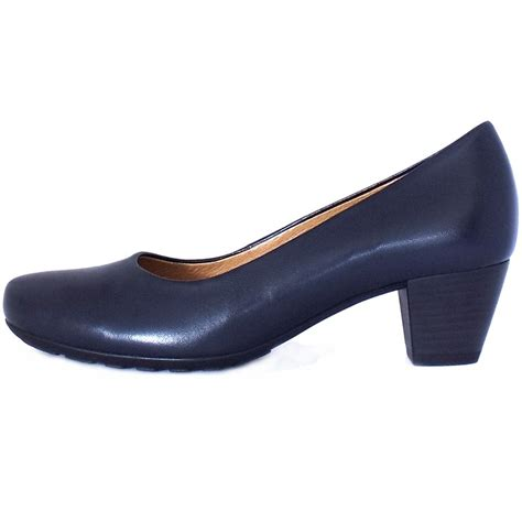 comfortable pump gabor brambling formal comfortable low heel navy pumps