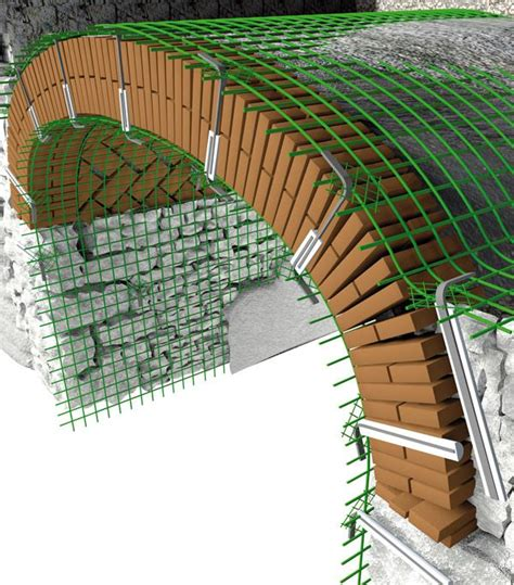 gabbia di faraday edifici consolidamento di archi e volte applicazioni fibre net s