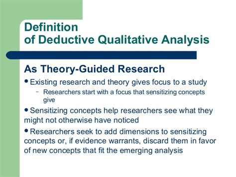 pattern seeking definition an introduction to deductive qualitative analysis
