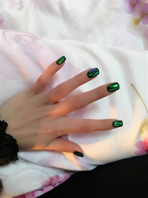 Handmade Nails For Sale - sale handmade nails shattered emerald designed