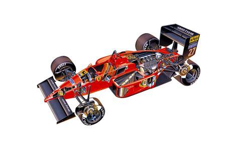 Ferrari W F1 by Ferrari F1 87 Cutaway Wallpaper