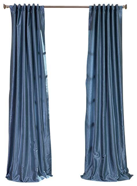 blue faux silk curtains provencial blue vintage textured faux dupioni silk curtain