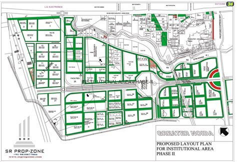 layout plan sector 2 greater noida layout plan of institutional area phase ii greater noida