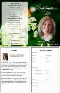 Free Funeral Program Templates by The Funeral Memorial Program Free Funeral Program