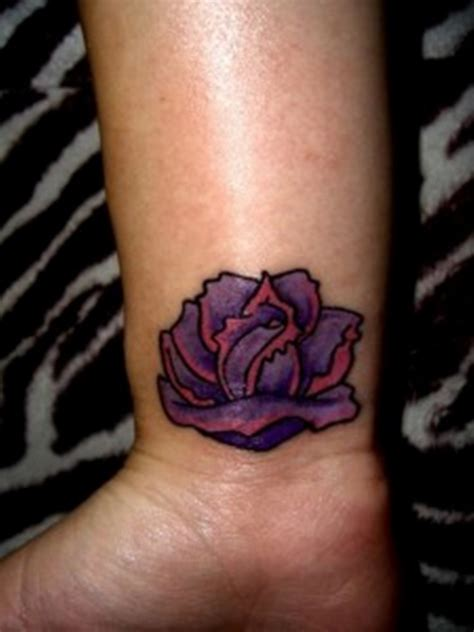 purple tattoo 52 elegant rose wrist tattoos