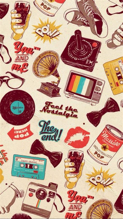 wallpaper for iphone retro vintage pattern iphonewall pinterest patterns