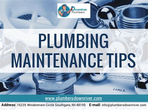 Plumbing Tips by Plumbing Maintenance Tips