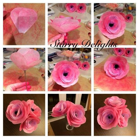 How To Make Wafer Paper Flowers - wafer paper flower tutorial cakecentral