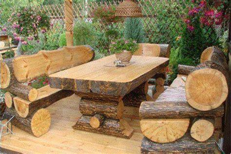 log cabin patio furniture tables de jardin originales insolites recycl 233 es