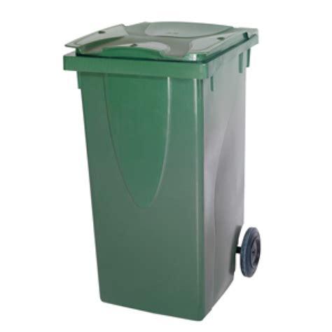 poubelle a roulettes 120 litres vert belli belli chez mr bricolage