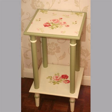 Decoupage End Table - diy decoupage end table diy dreams