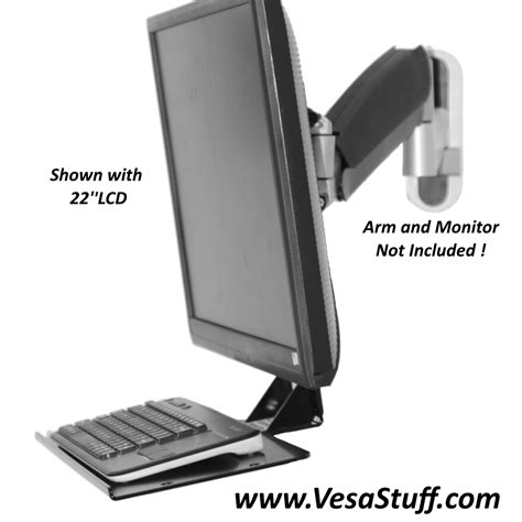 vesa mount for glass desk keyboard brackets rack mount keyboard tray
