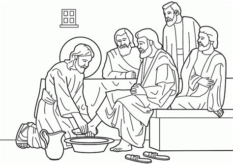 free printable coloring pages of jesus washing the disciples jesus washes the disciples coloring page coloring home