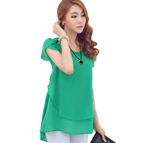 30753 Chiffon Blouse Green green chiffon blouse plus size 5xl 4xl 3xl butterfly sleeve pleated striped light
