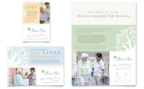 home health care brochure templates elder care nursing home flyer ad template design