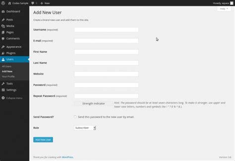 wordpress add layout users add new screen 171 wordpress codex