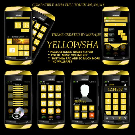 nokia asha phone themes download asha 305 themes mkraj25 theme archive