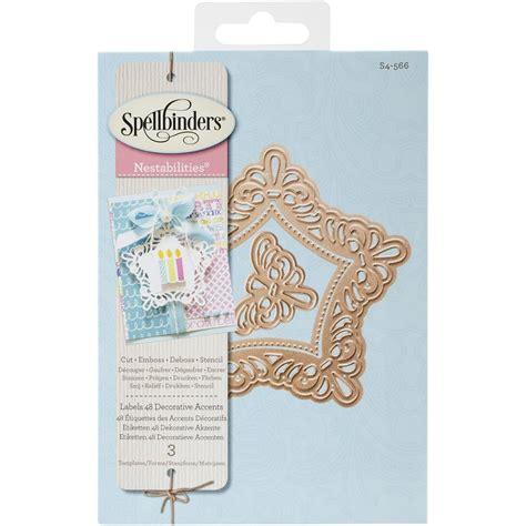 decorative accents spellbinders nestabilities die labels 48 decorative
