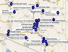 arizona casino map arizona gaming directory