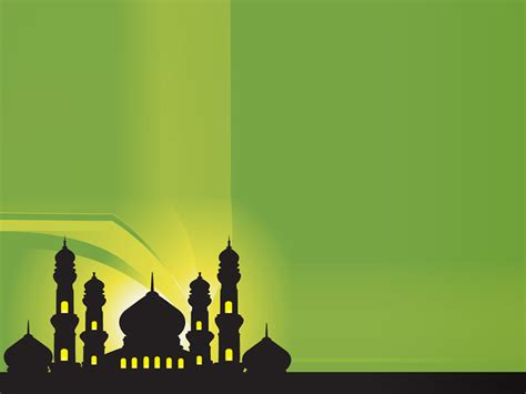 silhouette of mosques islamic ppt backgrounds 1600x1200