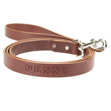 Handmade Leashes - leather leash lead personalized amish handmade 6