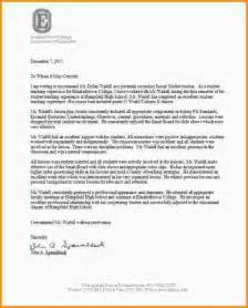 Recommendation Letter For Student From Supervisor 9 Letter Of Recommendation For Student Mac Resume Template