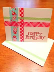 diy washi birthday card styled by jess
