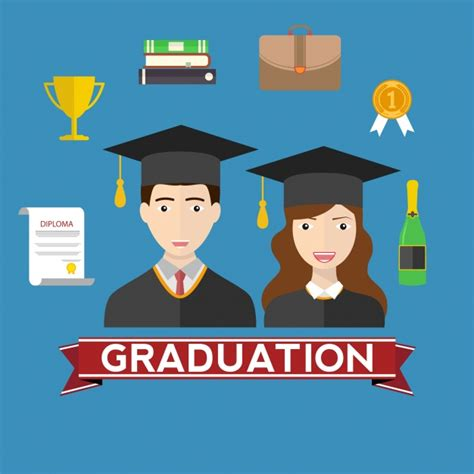Mba Graduation Pictures With Parents Backgrounds by Graduation Background Design Vector Free