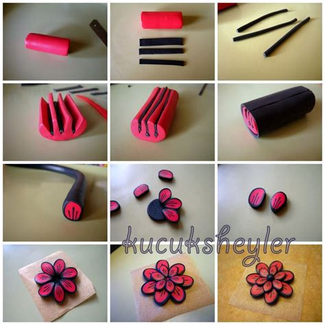 polymer clay tutorial polymer clay flower tutorial tutoriales