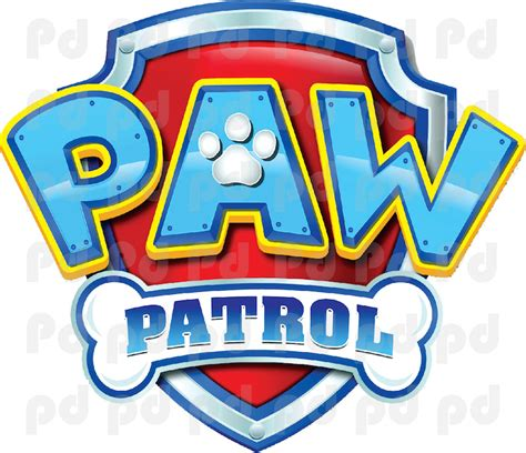 Pink And Black Home Decor by Paw Patrol Logo Wall Decal Paw Patrol Kids Bedroom Wall