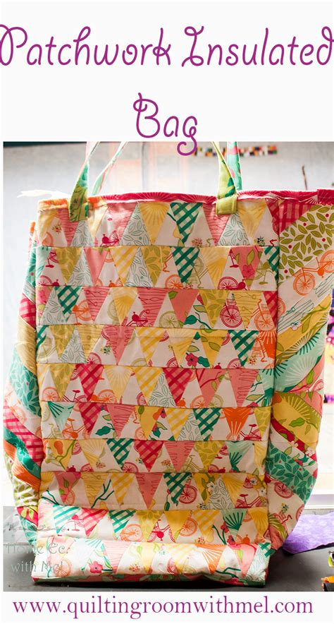 Patchwork Foods - patchwork insulated grocery bag the quilting room with mel