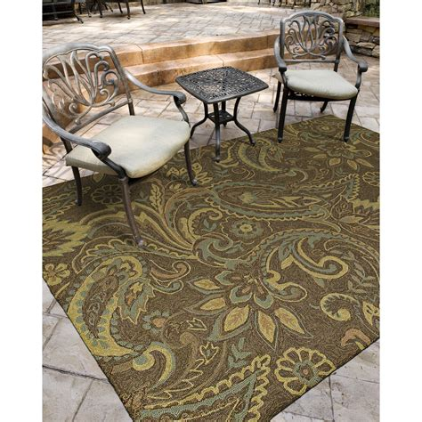 Outdoor Floor Rug Kaleen Home Porch Rivers End Mocha Indoor Outdoor Area Rug Reviews Wayfair