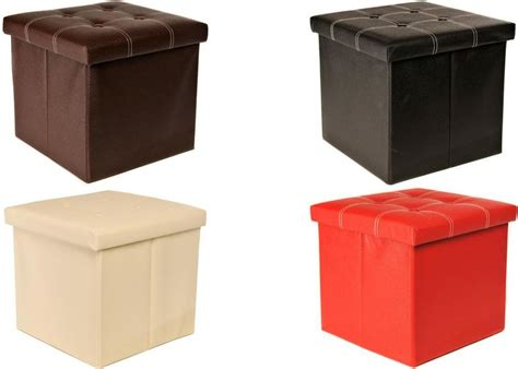 Small Ottoman Seat Small Ottoman Folding Pouffe Seat Foot Stool Storage Box