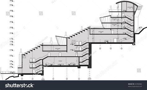 drawing a section section drawing stock vector 33780982 shutterstock