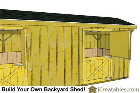 Tack Shed Plans by 2 Stall Barn And Tack Room Plans