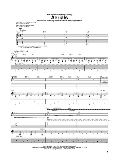 Lighting Crashes Chords by Aerials Sheet For Piano And More