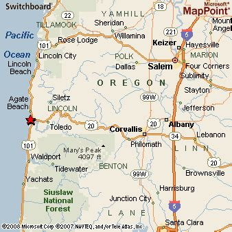 map of oregon newport newport oregon