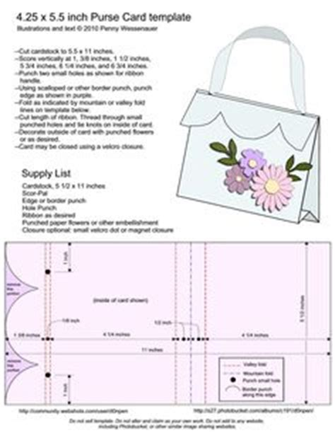 Purse Card Template by Cards Templates On Letters