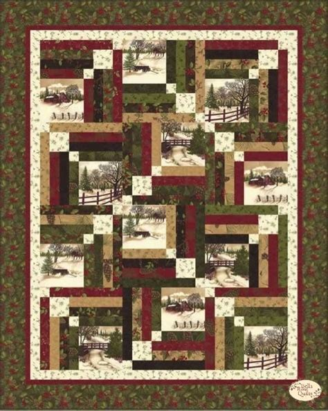Photo Quilt Fabric by Through The Winter Woods Memory Quilt Kit Quilts