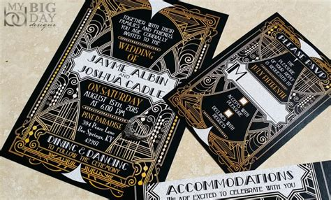 Wedding Invitations Gatsby by New The Glittering Gatsby Wedding Invitations Great